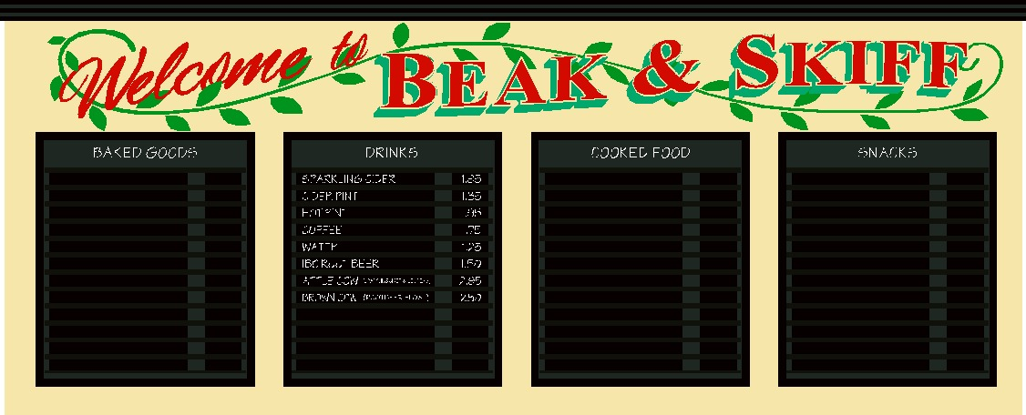 Beak and Skiff Distillery Sign Layout Design; Syracuse, New York