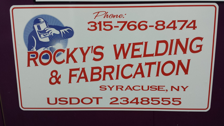 Rocky's Welding Magnetic with Die Cut Decal
